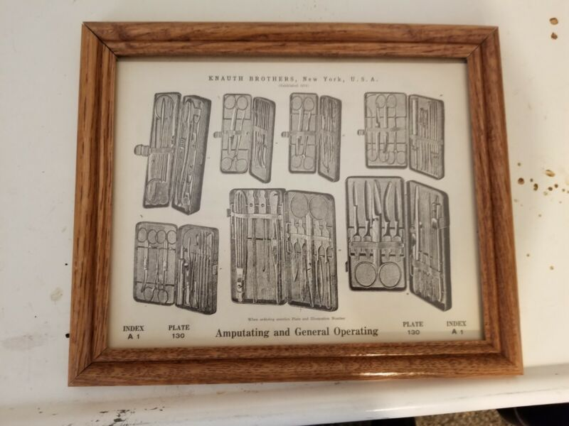 1800S KNAUTH BROTHERS 2 SIDED ANTIQUE VINTAGE SURGICAL BOOK PLATES
