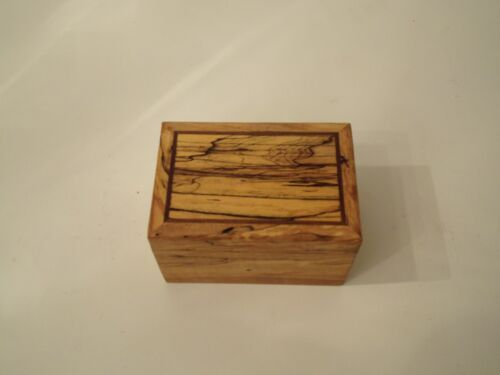 Recipe Box handcrafted from spalted Maple