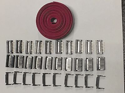 Flat Cable 14 Pins Wires Idc Ribbon 2.54mm Pitch 12ft Cable 10 Sets Connectors