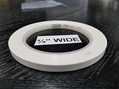 3m 471 Vinyl Plastic Tape White 14 In X 36 Yd Custom Width 1 Roll Increments