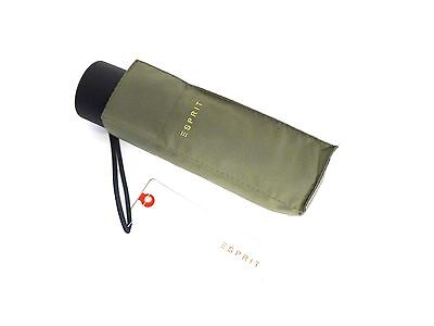 ESPRIT Petito Regenschirm Taschenschirm mini - sage - steingrau - Herren Damen