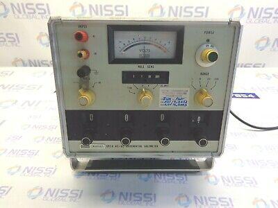 Fluke 893a Ac-dc Differential Voltmeter