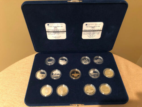 1992 Royal Canadian Mint 125 Anniversary Sterling Silver Proof Quarter Set