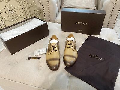 Gucci Quentin Cream Mens Dress Shoes