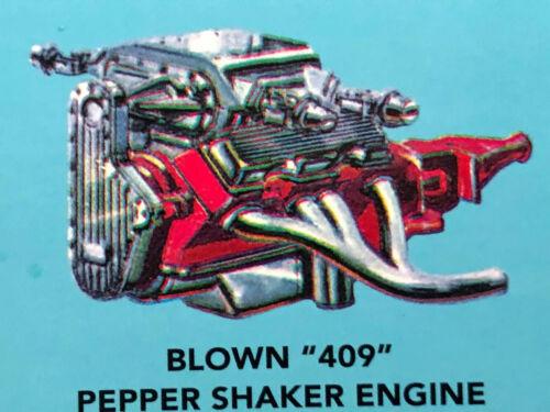 Blown 409 Chevy Engine Complete W Headers FOB UNBUILT 1 25 AMT LBR Model Parts - $8.99