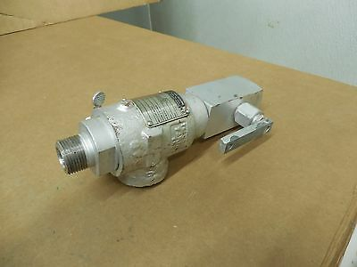 Teledyne Farris Engineering Relief Valve 1852t-pkdsp 34 X 1 Set Press 125psi