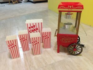 Table top air popcorn machine and containers!