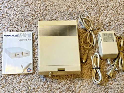 Commodore 1541-II Disk Drive w/Power Supply, Cable, Manual Tested and Working