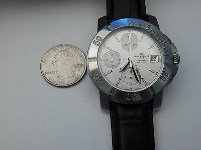 BAUME MERCIER SOLID STAINLESS STEEL 40MM CAPELAND S AUTOMATIC CHRONOGRAPH white