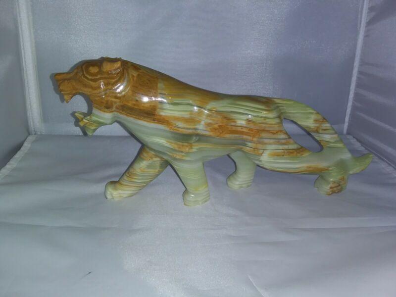 Vintage Onyx Marble Tiger Figurine