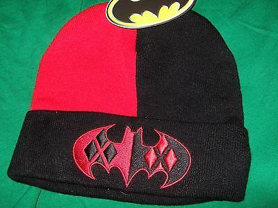 DC Comics Batman Joker Harley Quinn Logo Watchman Knit Beanie Stocking Cap Hat  - Harley Quinn Stocking