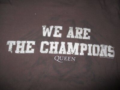 "2007 QUEEN ""We are the CHAMPIONS"" (XL) T-Shirt BROWN"