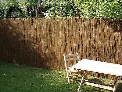 Weidenmatte Sichtschutzmatte Garten Sichtschutz Weide Matte Roll Zaun Weidenzaun