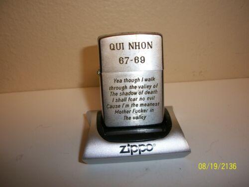 ZIPPO LIGHTER VIETNAM QUI NHON 1967 F**K  23RD PSALM DIXIE