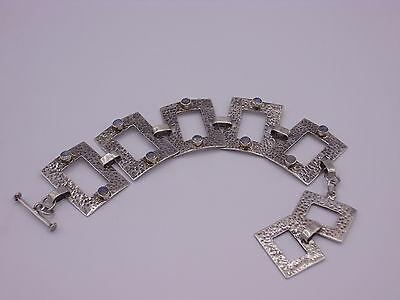 wunderschönes Handarbeit Armband mit Mondstein Sterling Silber 925 punziert