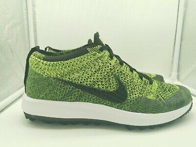Nike Flyknit Racer G Golf Shoes UK 7 Volt Black Sequoia Yellow Green 909756-700