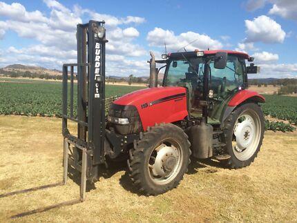 Case IH Maxxum 115 tractor with Burder forklift Helidon Lockyer Valley Preview
