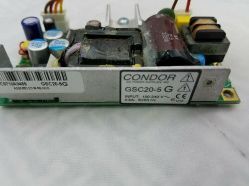CONDOR GSC20-5G POWER SUPPLY 100-240V INPUT OUTPUT 5.1 VDC 3.8 AMP, SWITCHING PS