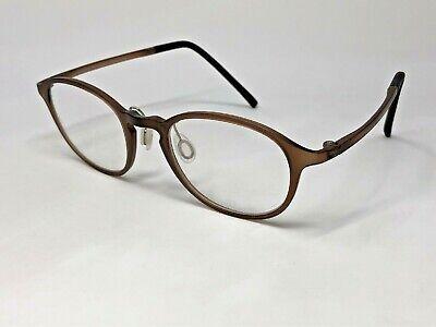 JINS LUF-16A-337F 81 Eyeglasses Frame 48-21-140 O39 Light Brown Clear Matte (Jins Glasses)