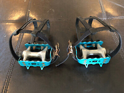 "SBDs World Class Designer BIKE Pedals w// Straps  Shaft Thread Size 1//2/"" PAIR L+R"