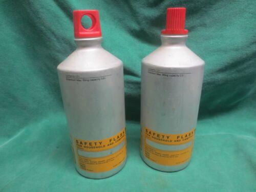 2 vtg Markill Aluminum Fuel Bottle Safety Flask Screw Top Backpacking Camp