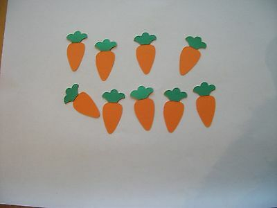 20 Carrot Die Cuts - Fully Assembled - Gardening / Easter
