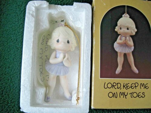 Precious Moments LORD KEEP ME ON MY TOES Ballerina Porcelain Ornament 1986