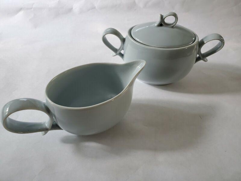 Canonsburg Willard George Vintage Creamer & Sugar Bowl