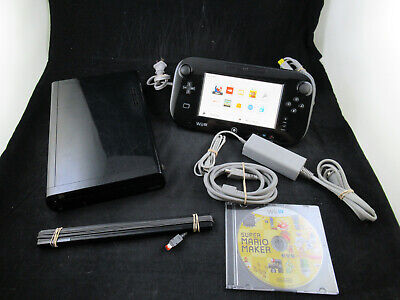 Nintendo Wii U 32GB Black Console WUP-101(02) - Tested - /w Games - Read Desc.