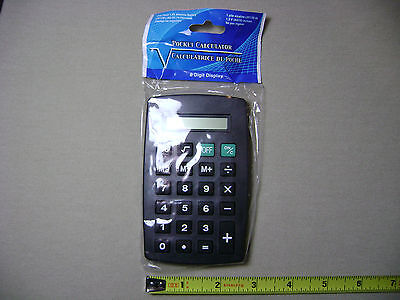 Battery Powered Pocket Calculator with 8 Digit Display you pick type (NEW)