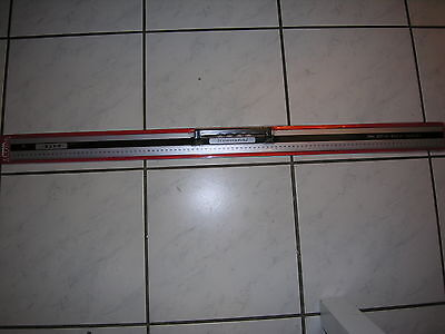 Metalllineal 100cm in Aluminium mit Handgriff / Magnet