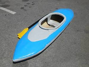 Blue Fiberglass 2.18m Kayak with paddles !!! Woodville South Charles Sturt Area Preview
