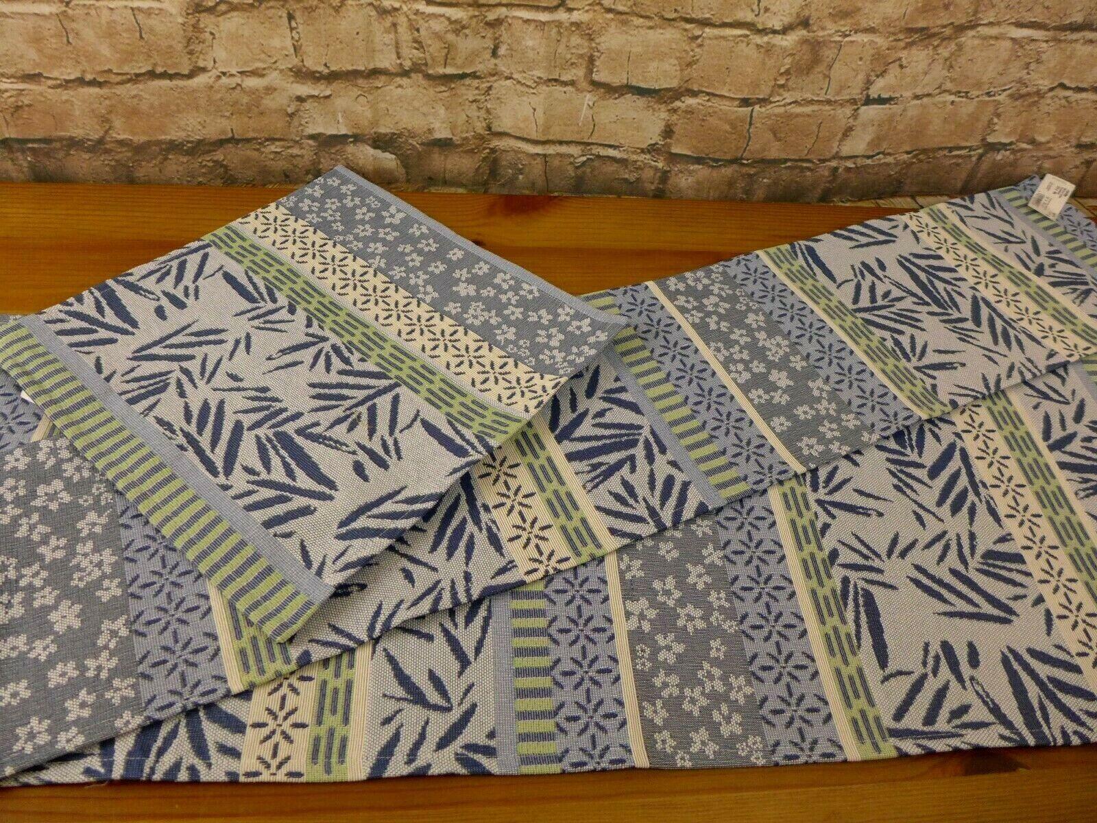 Sander Gobelin Mitteldecke Tischläufer Tischset Marisol Stripe blau Größenwahl