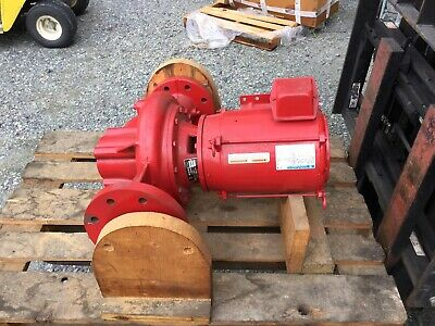 Marathon Electric Fire Water Pumpbell Gossett Pump