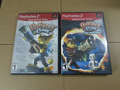Ratchet & Clank 1 + Going Commando 2 Games Black Label Sony Playstation 2 PS2  comprar usado  Enviando para Brazil