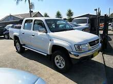 2002 Toyota Hilux SR5 4X4 3.0L DIESEL DUAL CAB WHITE UTE Lansvale Liverpool Area Preview