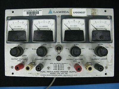 Lambda Lpd-421-fm 0-20v 0-1.7a Dual Regulated Power Supply