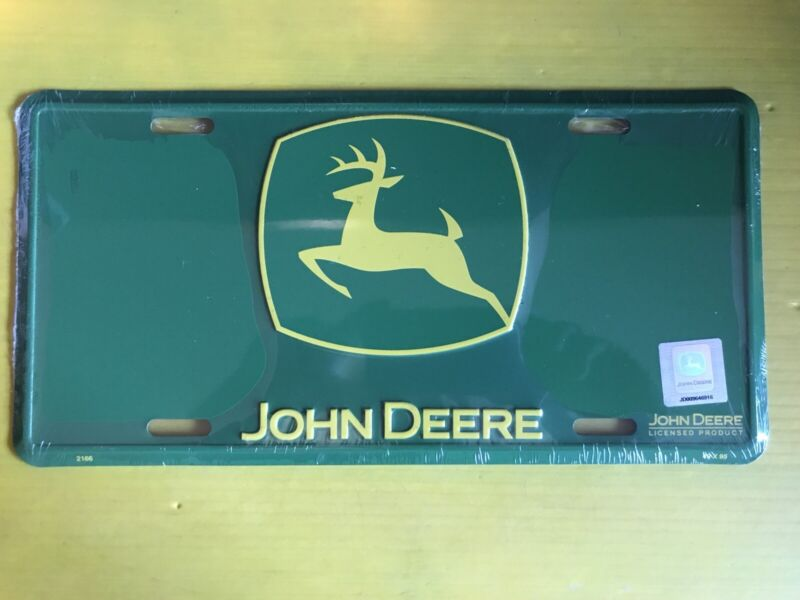 """JOHN DEERE LICENSE PLATE 6""""X12"""" New In Plastic Official Licensed Product"""