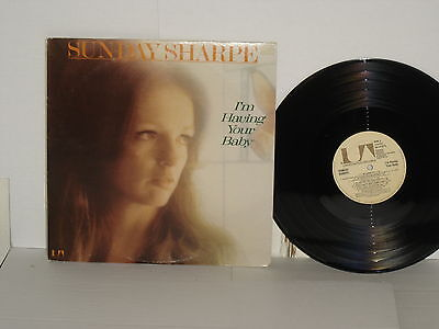 Sunday Sharpe Im Having Your Baby Lp Country Vinyl 1975 Ua Records La362 Vg