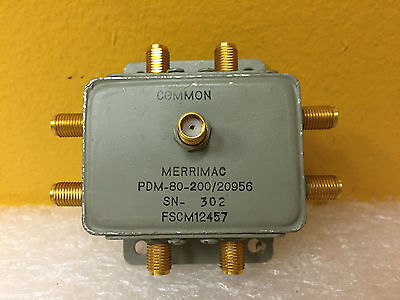 Merrimac Pdm-80-20020956 1 To 400 Mhz Sma F 8-way Coaxial Power Divider