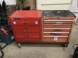 Tool boxes on heavy rollers