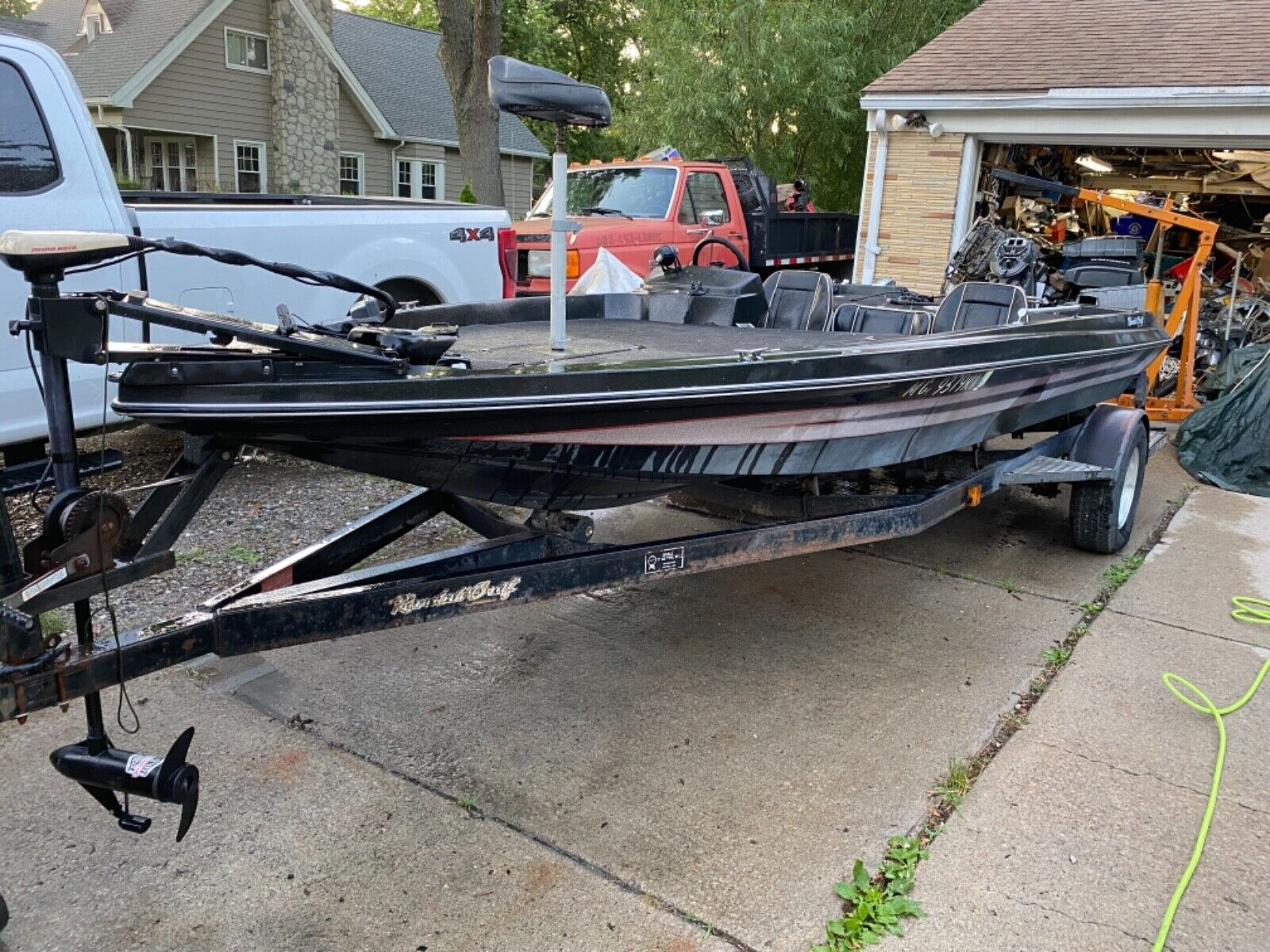 1986 V176 Randall Craft Bass Boat With Trailer