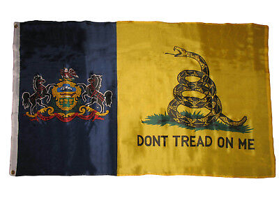 Used, 3x5 Gadsden Don't Tread On Me Pennsylvania State Flag 3'x5' Banner Grommets for sale  Shipping to Canada