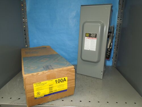 Square D H323nrb Heavy Duty Fusible Safety Switch 100a 3p 4w 600v Nema 3r