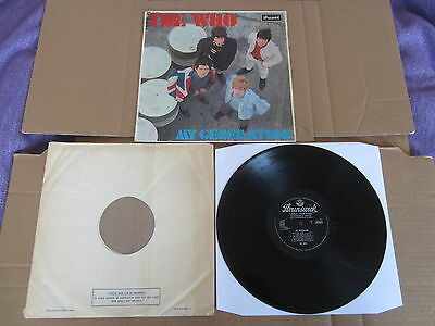 THE WHO My Generation BRUNSWICK LP RARE ORIGINAL 1965 MONO UK 1ST PRESSING