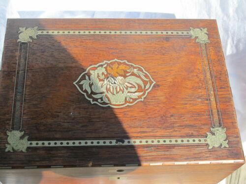 Antique Hardwood Traveling Lap Desk NO KEY/FOR RESTORATION