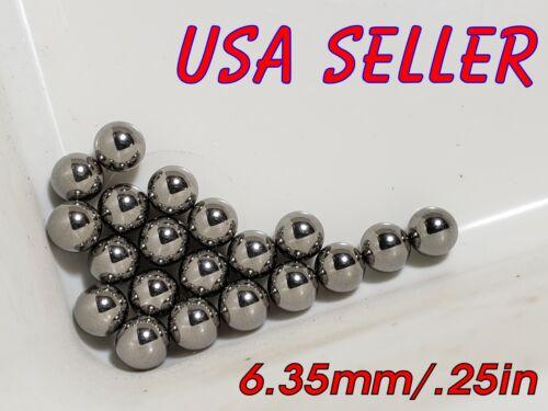 "6.35mm 1/4"" inch 0.25"" Hardened Carbon Steel Ball Bearings BAG 20 Bike Axle Rim"