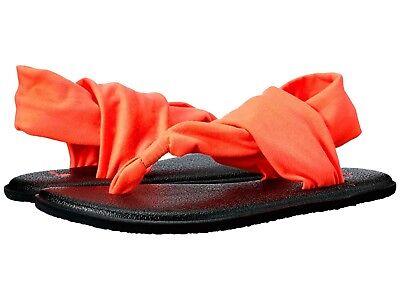 Orange Girls Sandals - NWT GIRLS SANUK ORANGE YOGA SLING BURST YOGA MAT FLIP FLOP SANDALS SZ 7-13/1