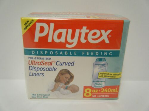 Vintage Playtex UltraSeal Curved Disposable 8 oz Liners 40 Total New in Box