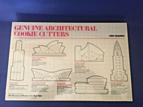 NIB Architectural Cookie Cutter Set MOMA 1988 Sears Tower, Sydney Opera,Chrysler